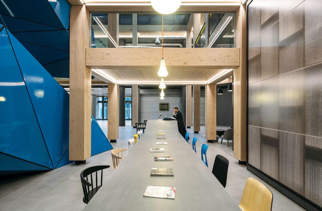 Landscape image of shared workspace