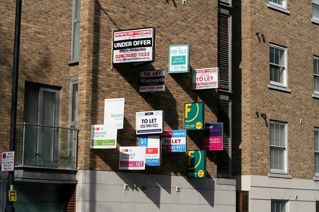 Commercial lettings agents boards in london