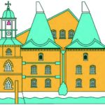 Three Mills London landmark Illustration